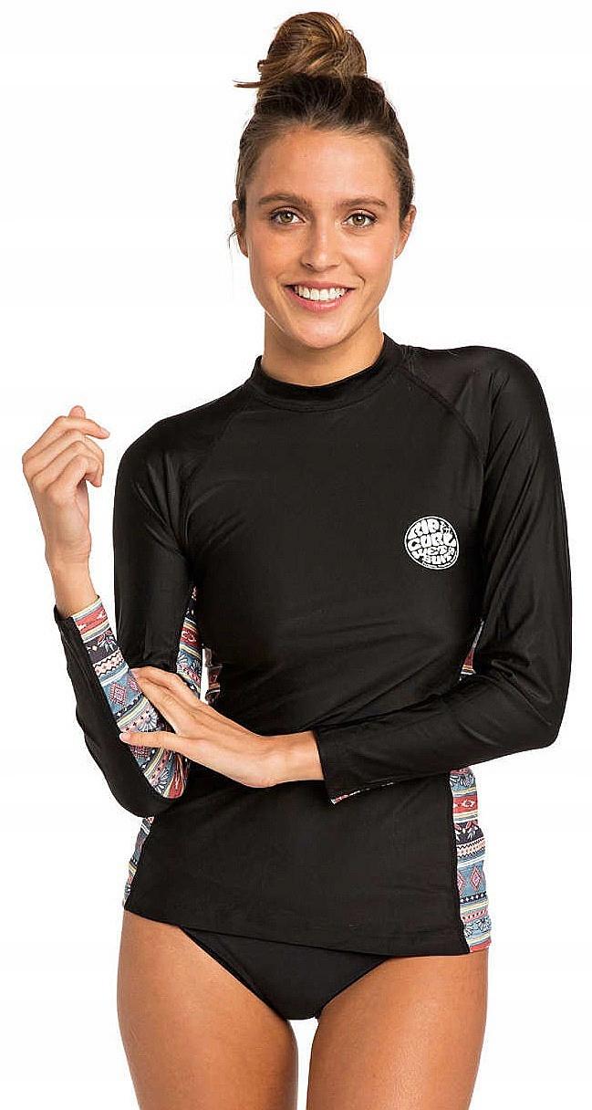 T-shirt Rip Curl Cabana LS - Black