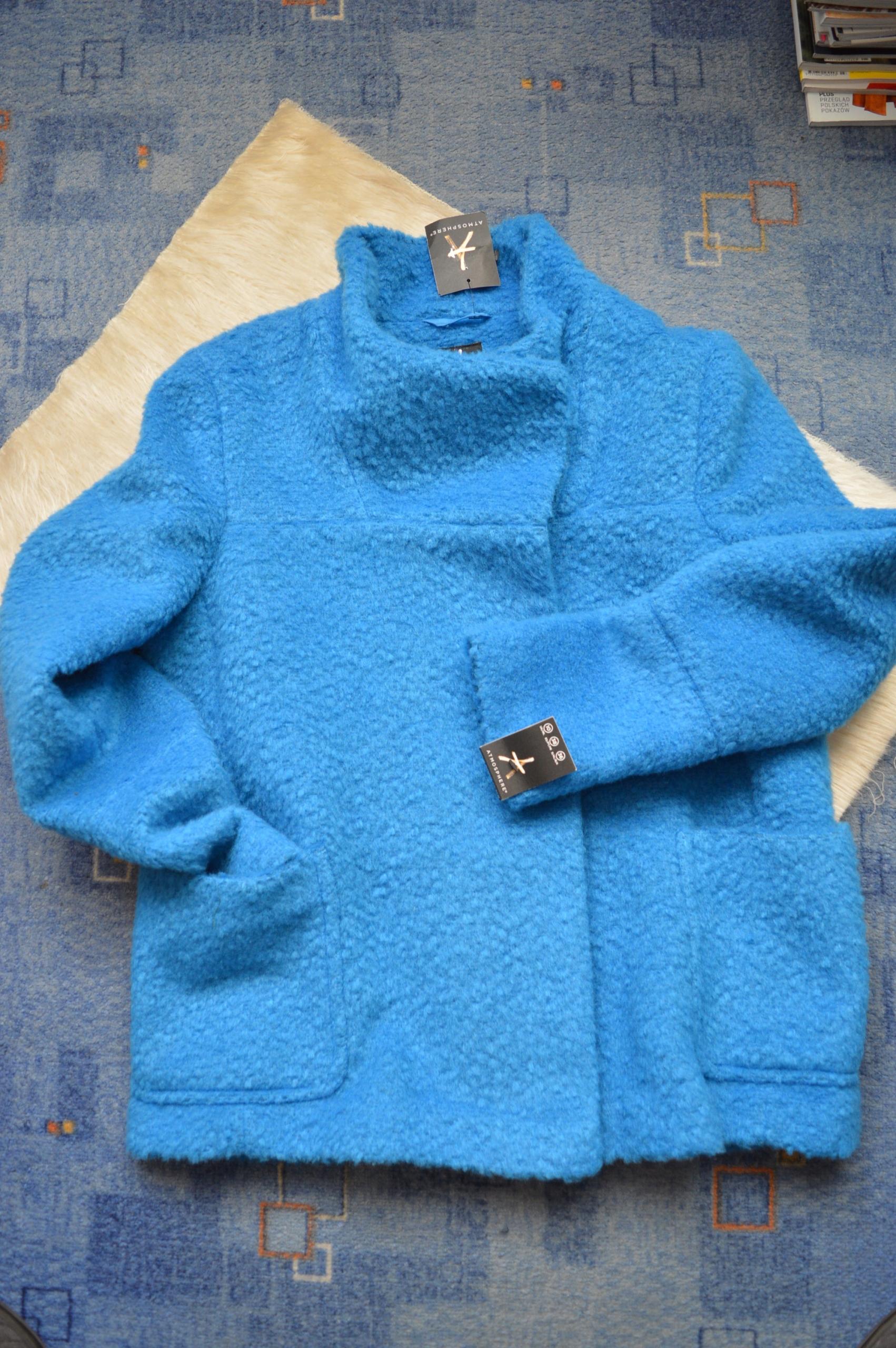 Atmosphere kurtka płaszczyk blue 36 38