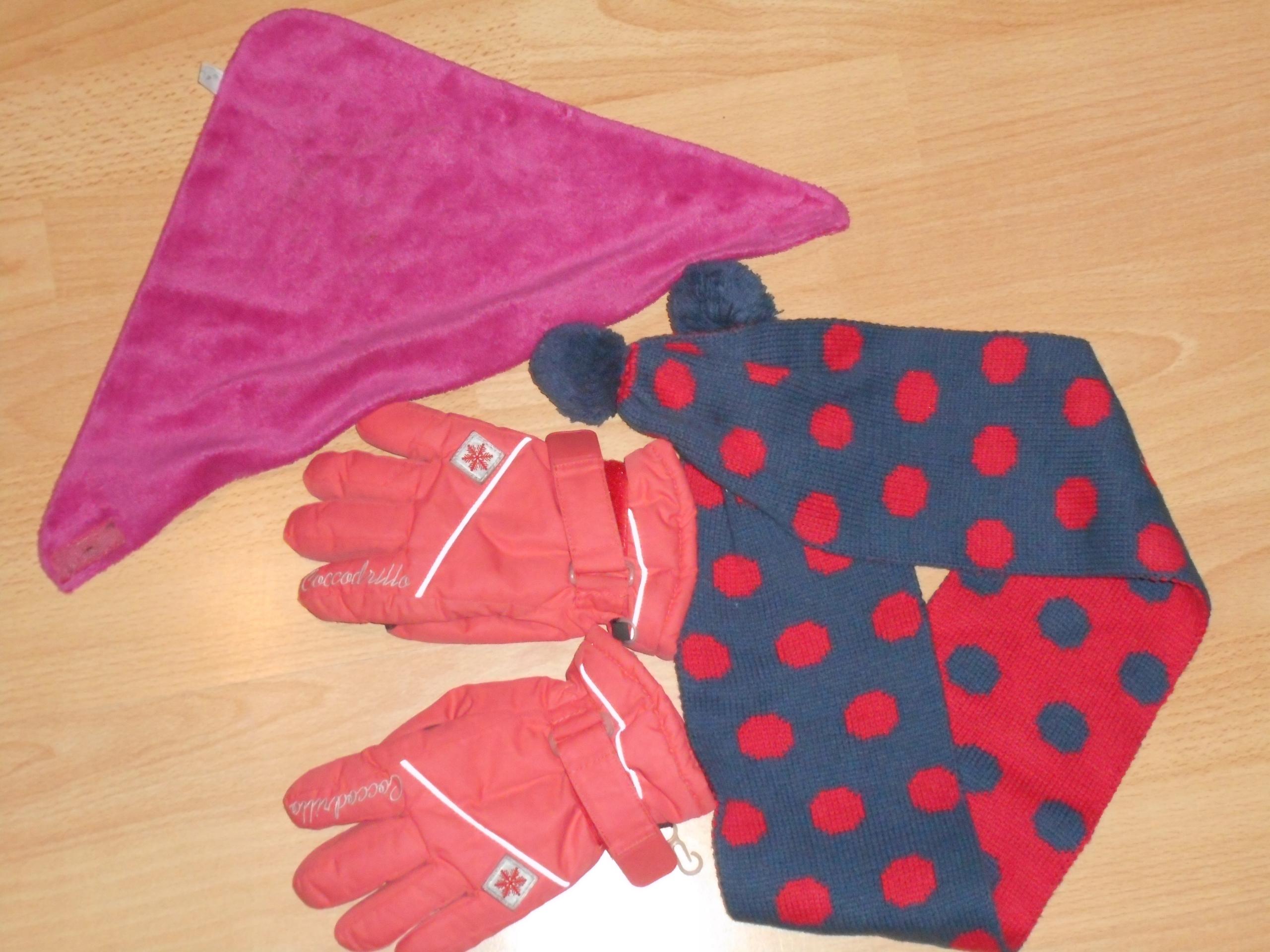 rękawiczki, szalik, chustka coccodrillo