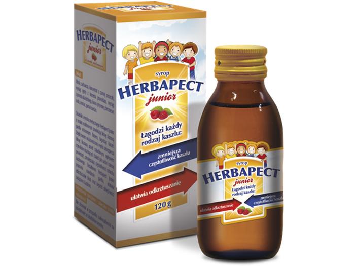 AP Herbapect Junior syrop malinowy na kaszel 120g