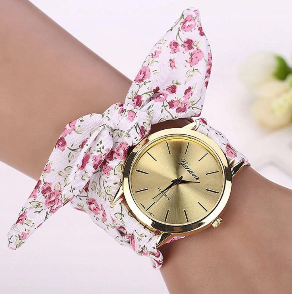 Zegarek Damski PIĘKNA KOKARDA Geneva - Kwiaty