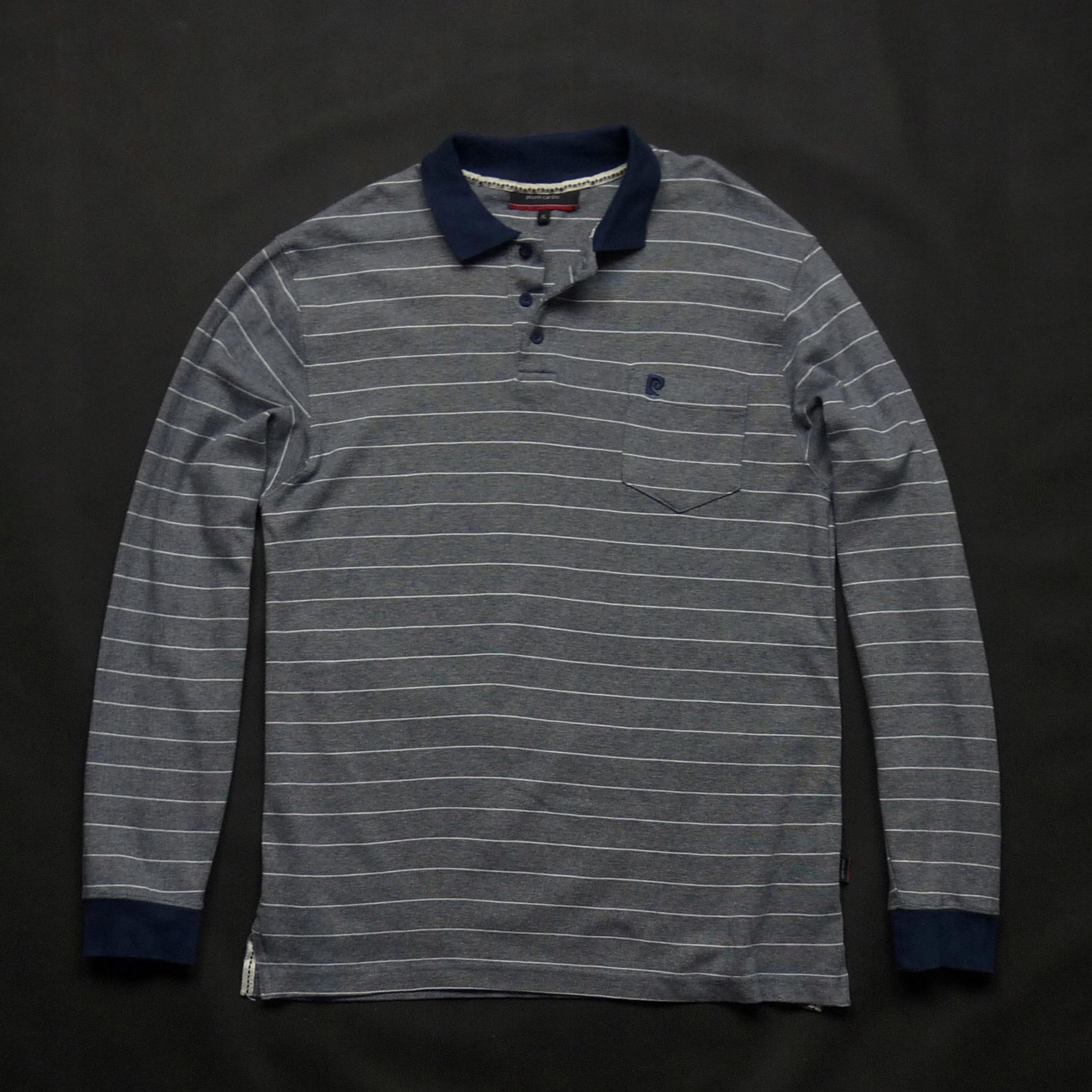 PIERRE CARDIN cieńsza bluza z kołnierzykiem XL
