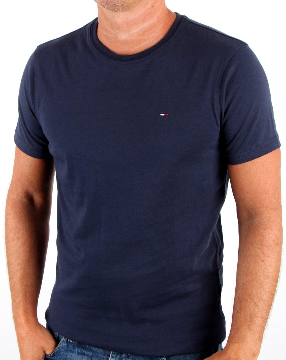 da06c3ce1 T-shirt koszulka męska Tommy Hilfiger Navy r.L - 7363771928 ...