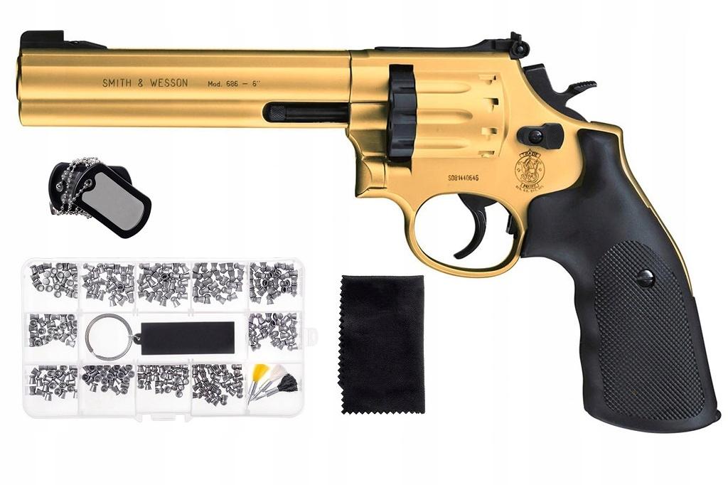 Wiatrówka rewolwer Smith&Wesson Mod 686 ZESTAW