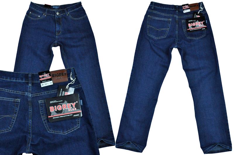 Męskie spodnie jeans BIG REY dł. 32' pas 112 cm/43