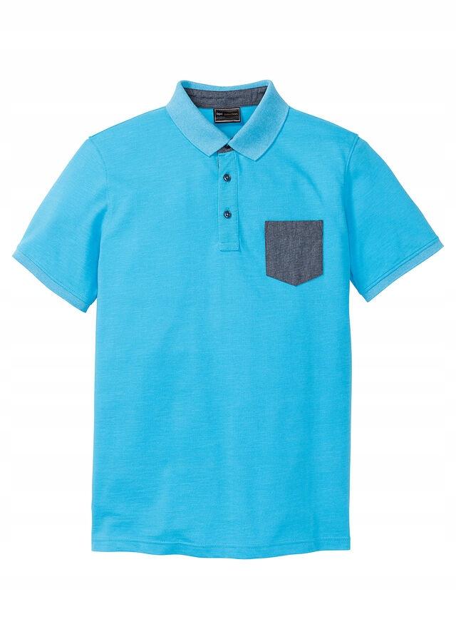 Shirt polo z kieszonk niebieski 60/62 (XXL) 972150