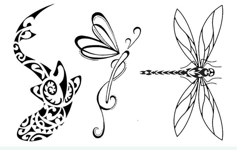 Tatuaż Zmywalny Ważka Komar Delfin 7530307456 Oficjalne