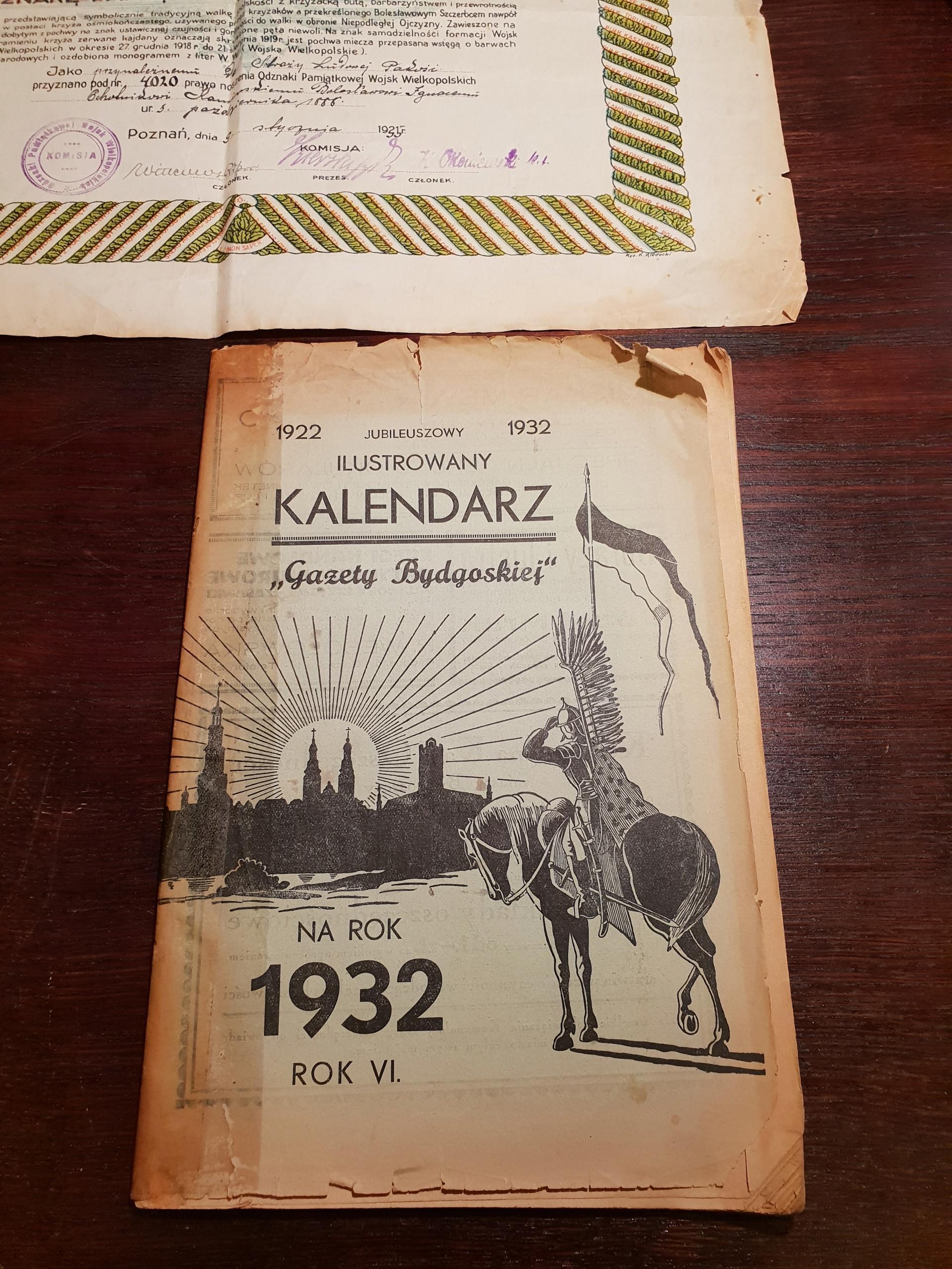 kalendarz gazety Bydgoskiej 1932 unikat Bydgoszcz