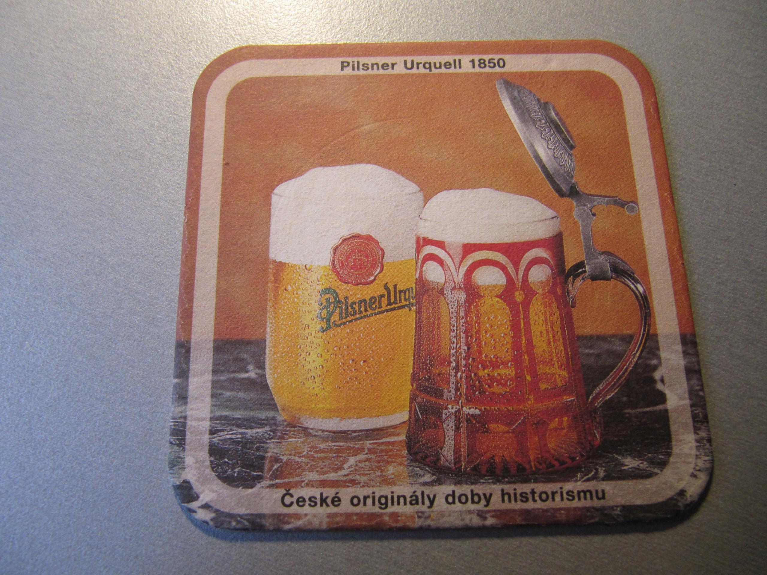 PODSTAWKA PODKŁADKA piwo Pilsner Urquell 2000