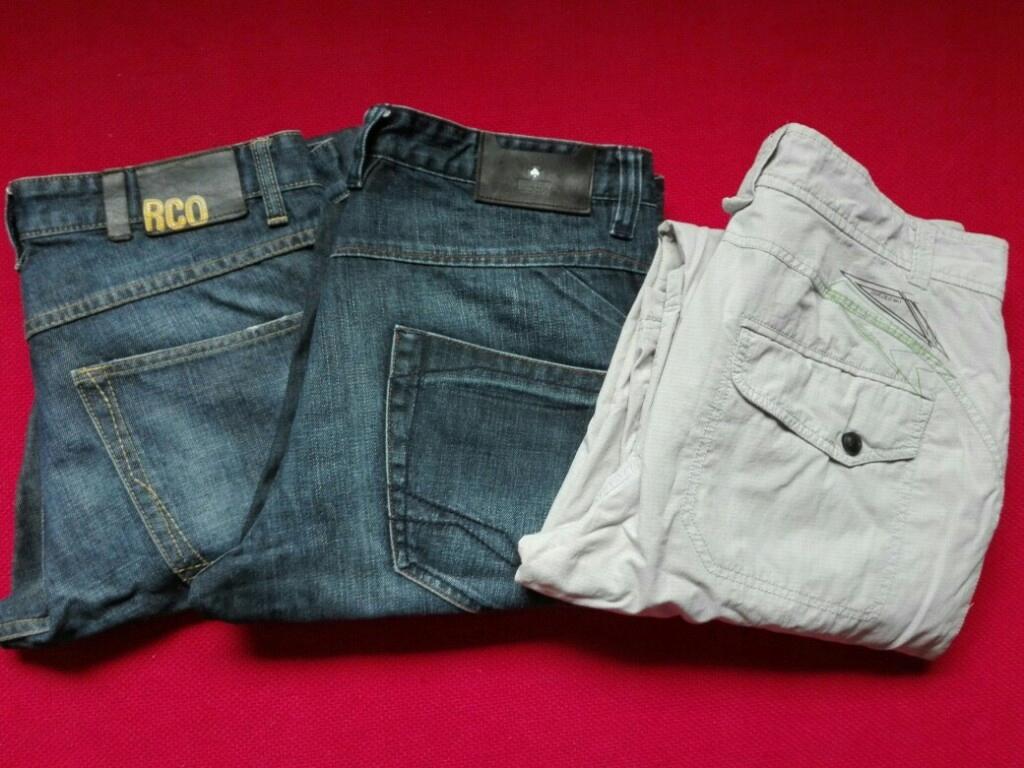 Spodnie Reserved i House jak nowe 3 szt.