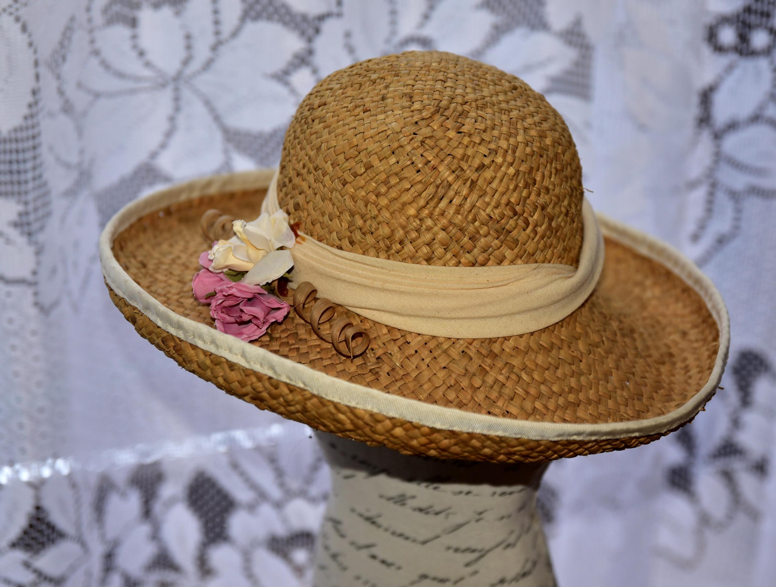 Romantyczny kapelusz,do sesji vintage,Anglia
