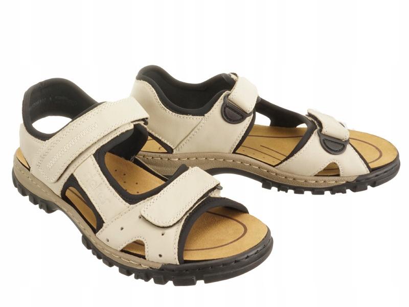 Sandały męskie RIEKER 25084-60 beige r43
