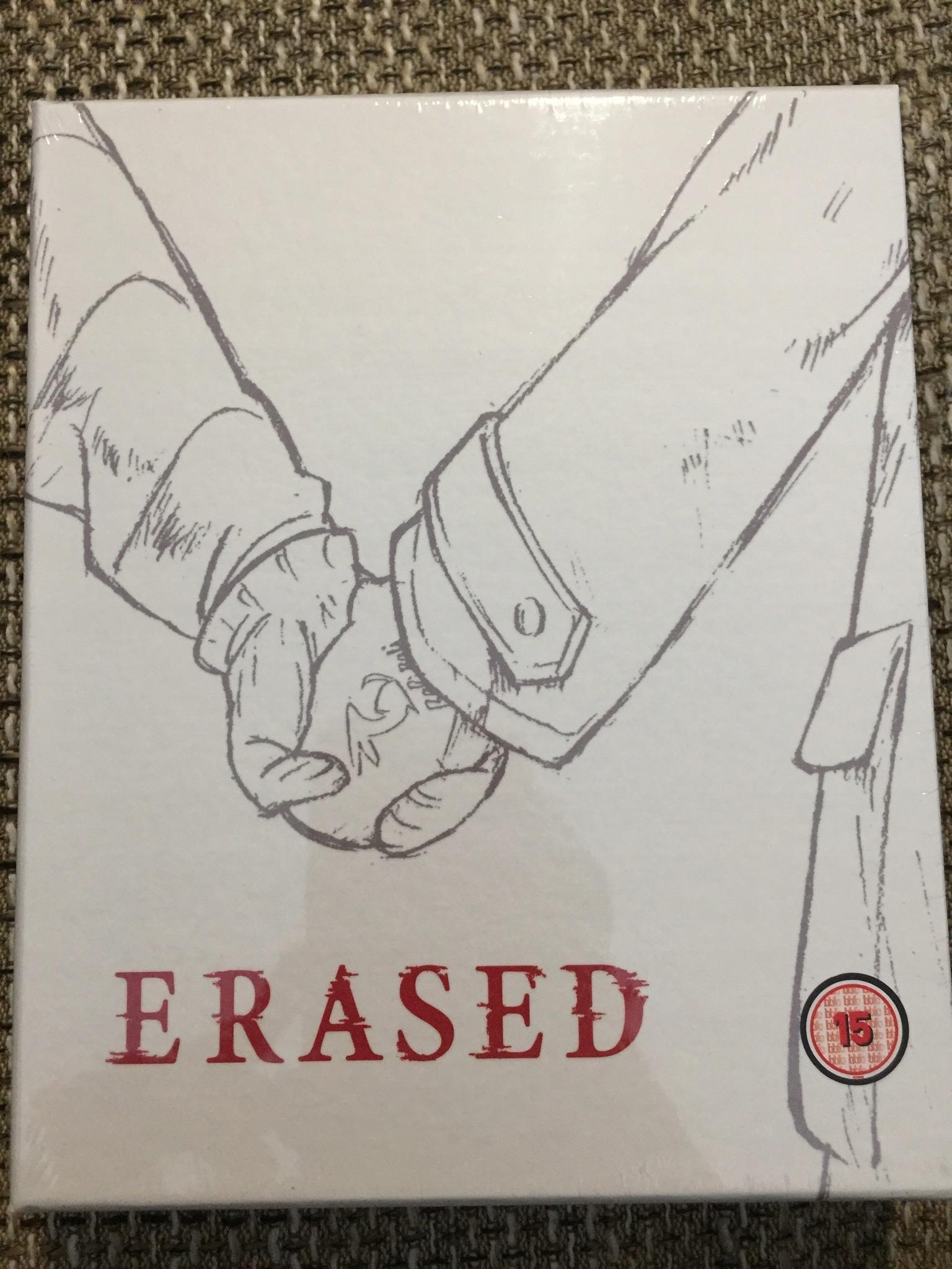 ERASED PART 1 BLU-RAY/DVD ANIME NOWA