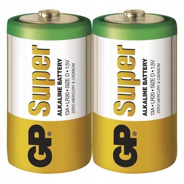 Bateria alkaliczna, LR20, 1.5V, GP, Folia, 2-pack,