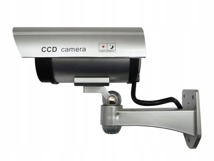 Atrapa Kamery Migająca Dioda IR 1100 LED Srebrna