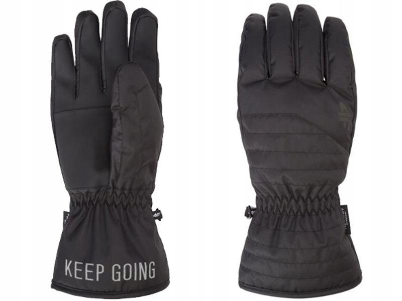 Rękawiczki narciarskie męskie REM001 4F czarne S