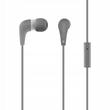 Słuchawki z mikrofonem douszne HE15G szare