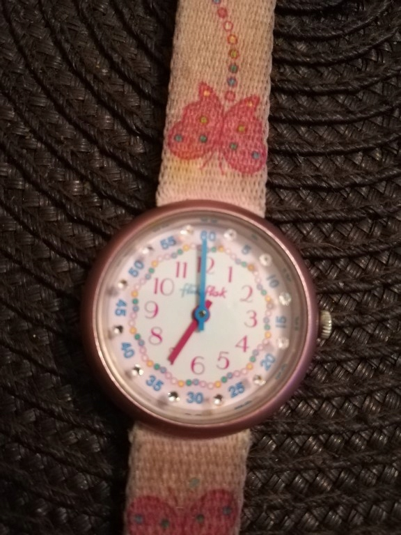 flik flak zegarek dziewczęcy z cyrkoniami