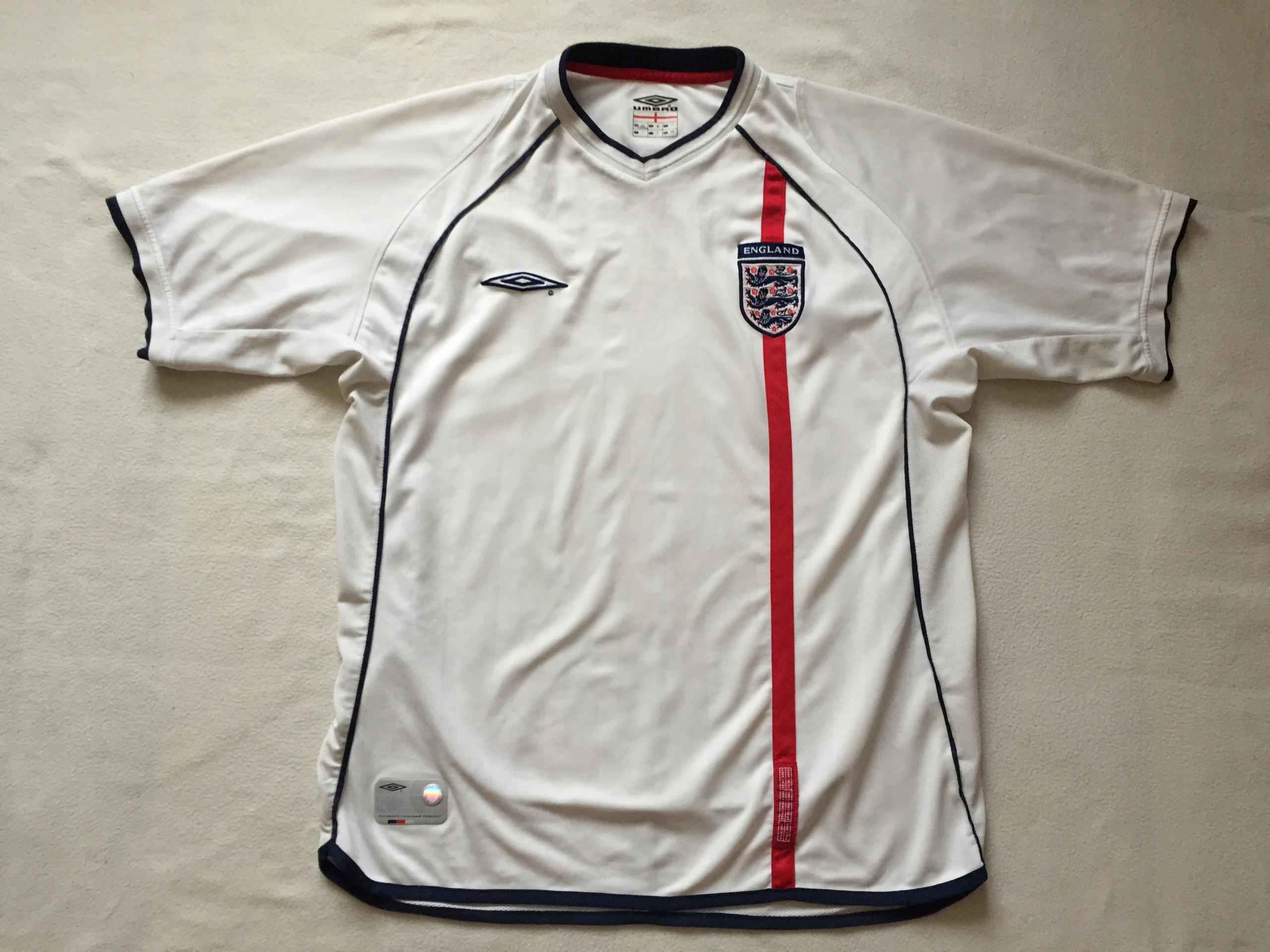 Koszulka reprezentacji Anglii-sezon 2002 r.
