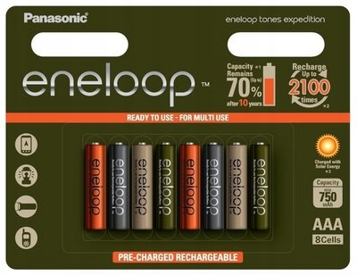 8X Akumulatorki Panasonic Eneloop Expedition AAA