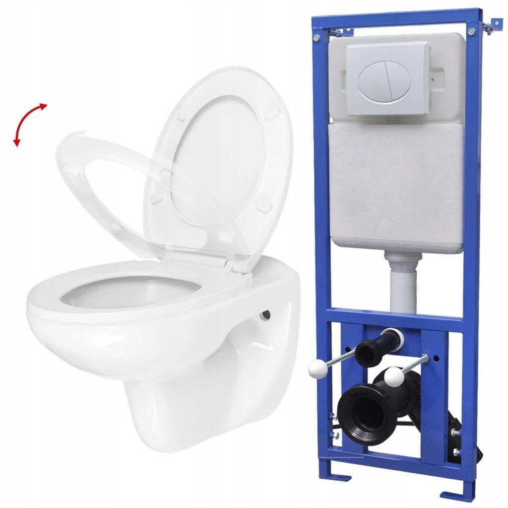 Toaleta podwieszana, zbiornik podtynkowy, ciche za