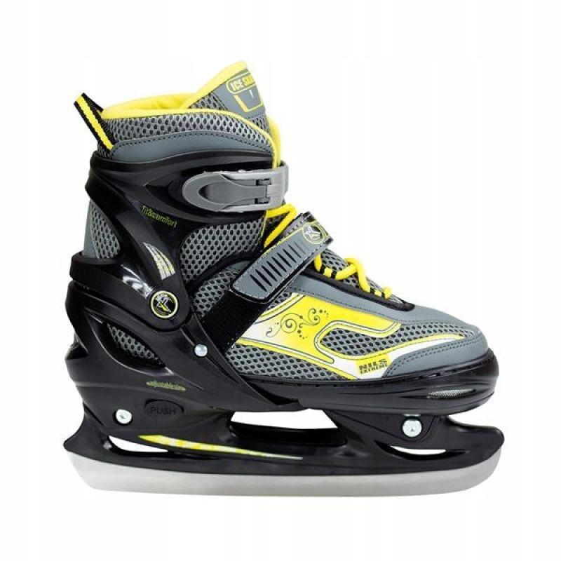 Łyżwy hokejowe Nils Extreme Black/Yellow r 30-33