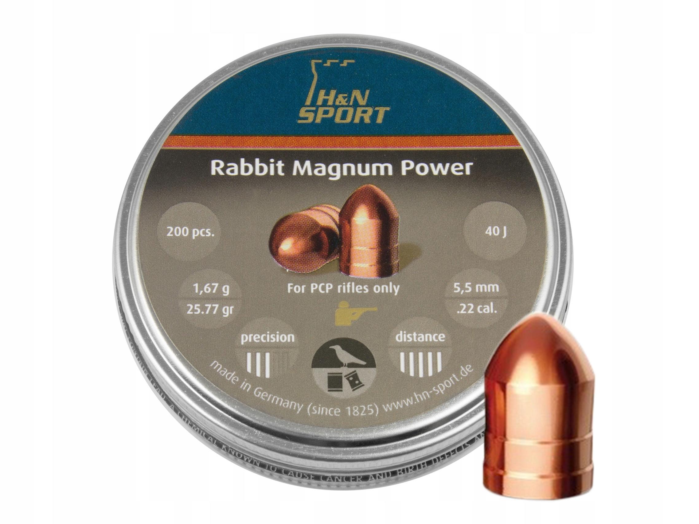 Śrut diabolo H&N Rabbit Magnum II Power 5,5 mm