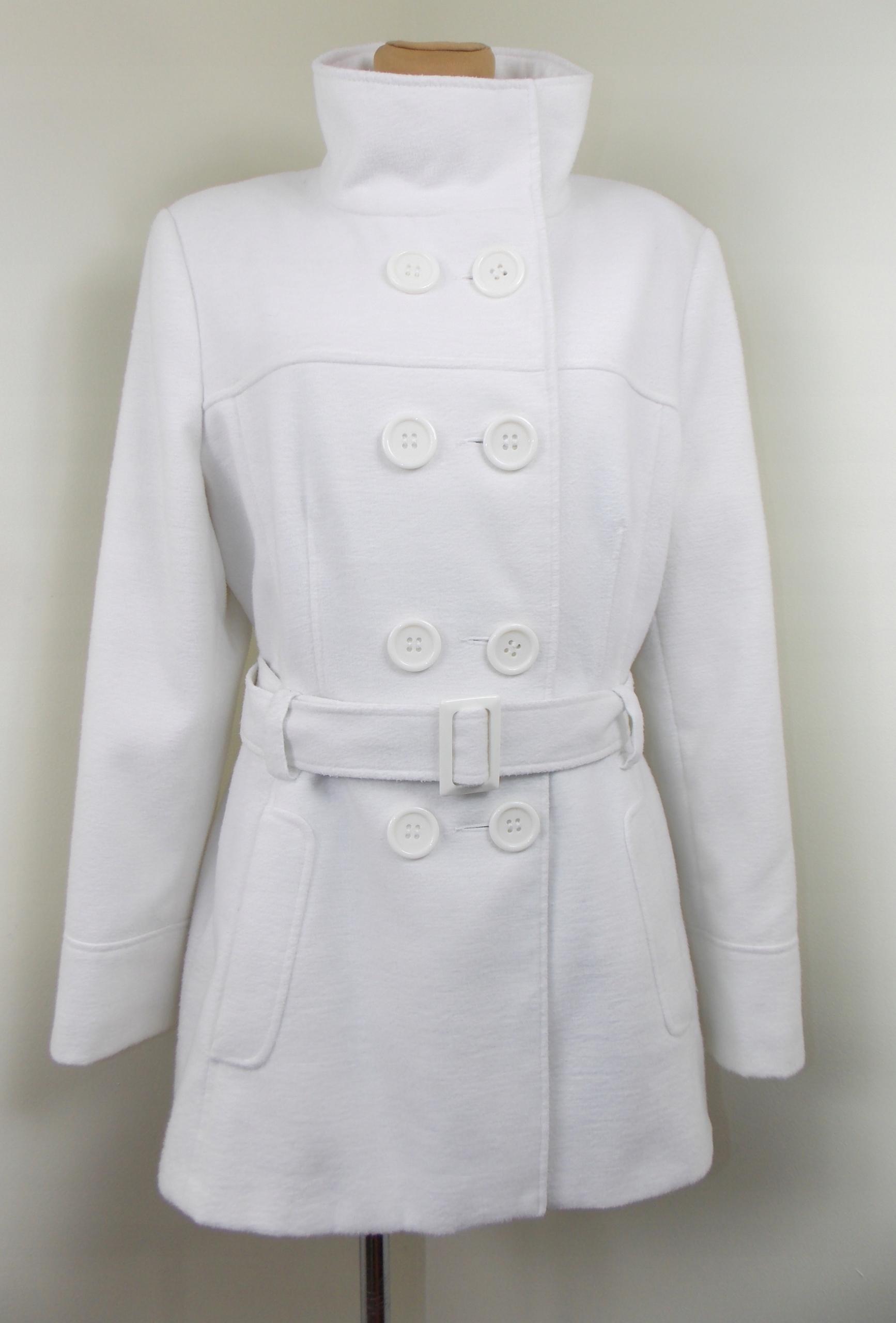 biały ATMOSPHERE płaszczyk wiosenny elegancki 44