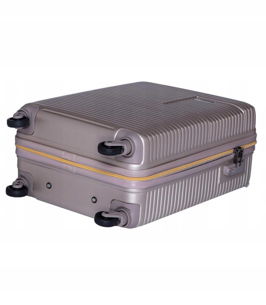 ad13467e4b08a Mała walizka Madryt szampańska zamek szyfrowy TSA - 7458641929 ...