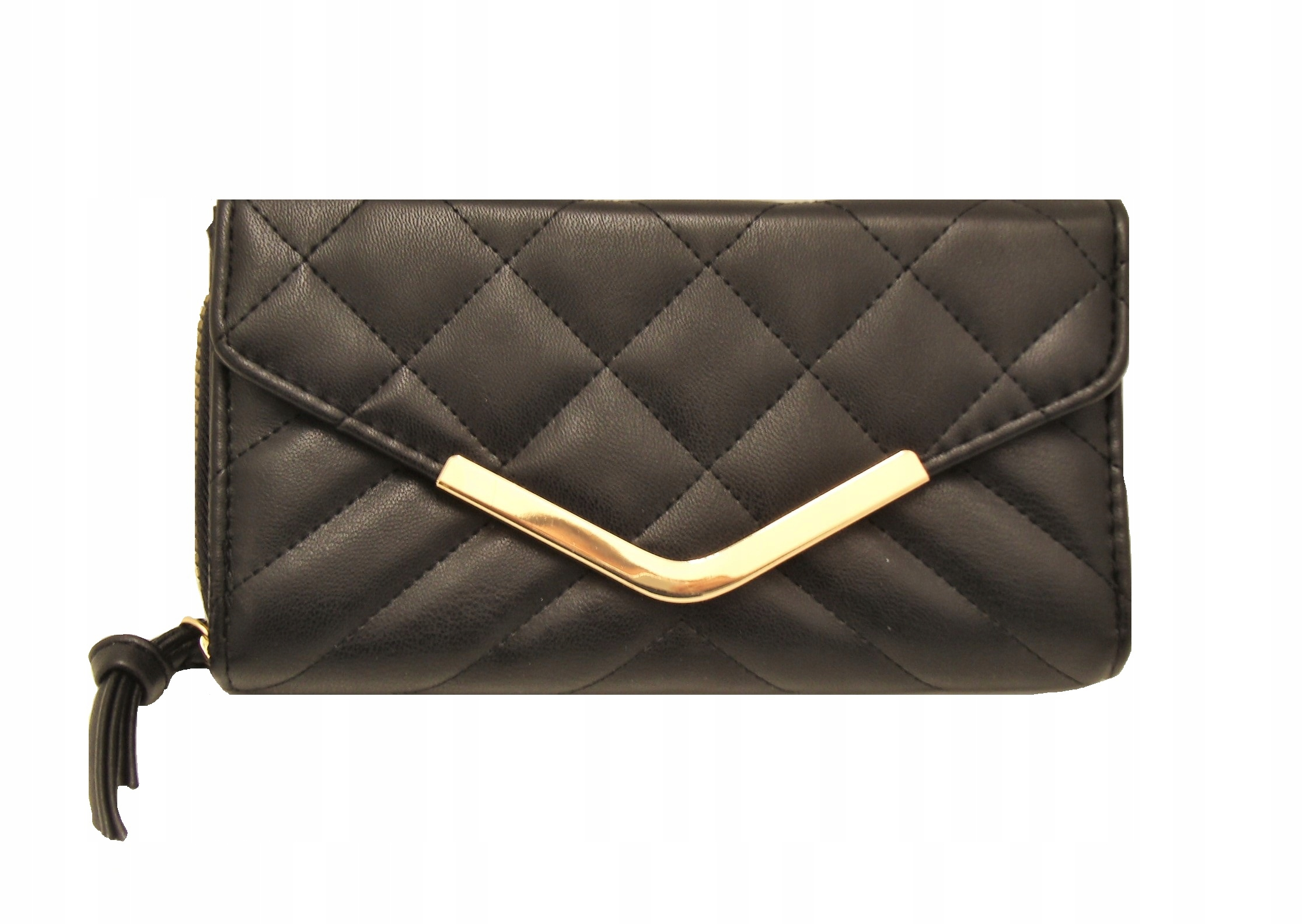 Atmosphere elegancki duży czarny portfel Primark