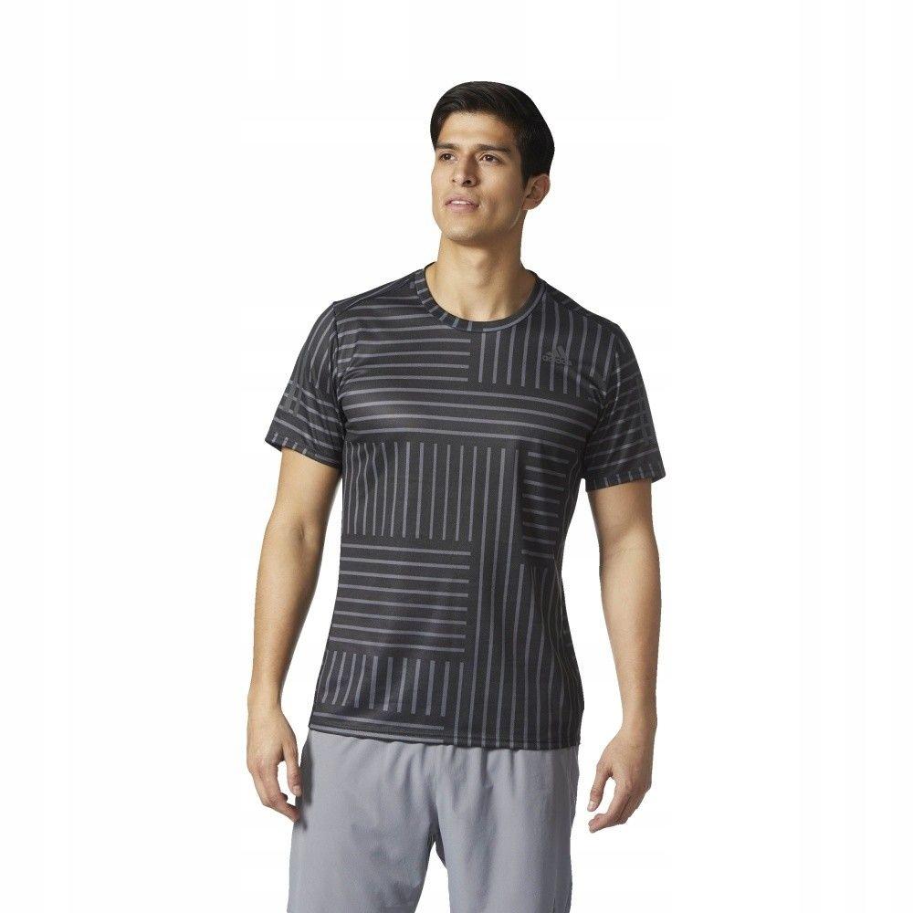 Koszulka adidas RS Print SS TEE BS4687 - CZARNY; M