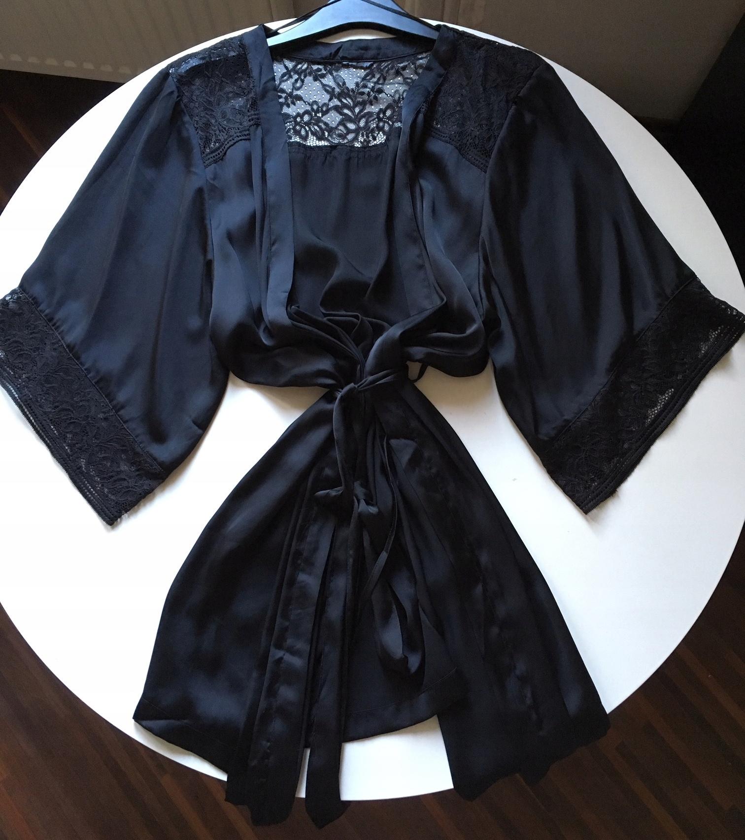 Krótkie satynowe kimono H&M Roz. M/L PODOMKA