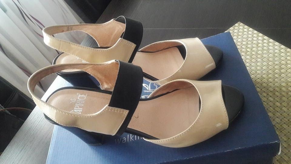 Skórzane sandały Caprice, stan idealny, 38,5