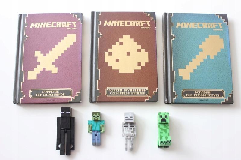 Minecraft Poradnik 3sztuki + figurki