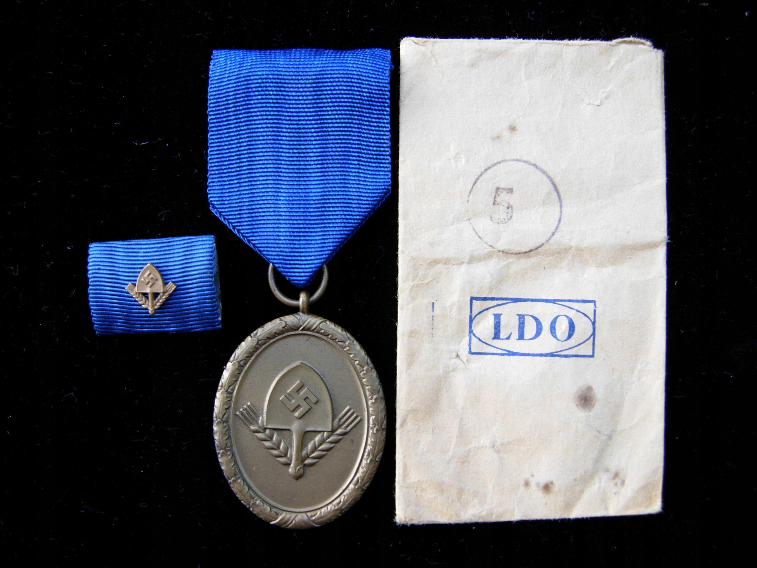 RAD Dienstauszeichnung 4 Jahre in Bronze, ZESTAW