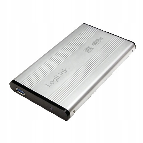 Obudowa do HDD 2,5' SATA, USB 3.0, srebrna