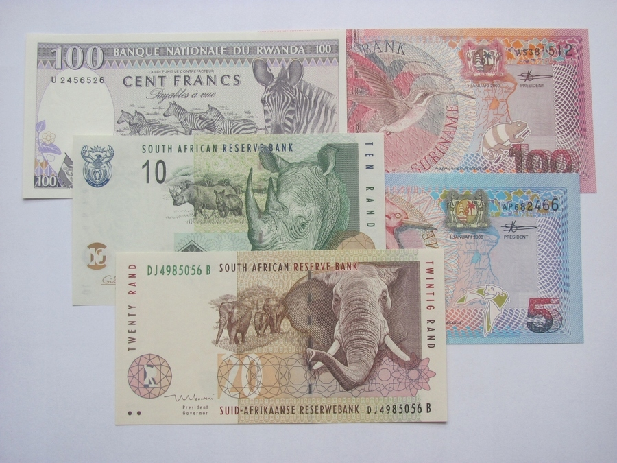 Zestaw banknotów Świata - rzadkie , UNC