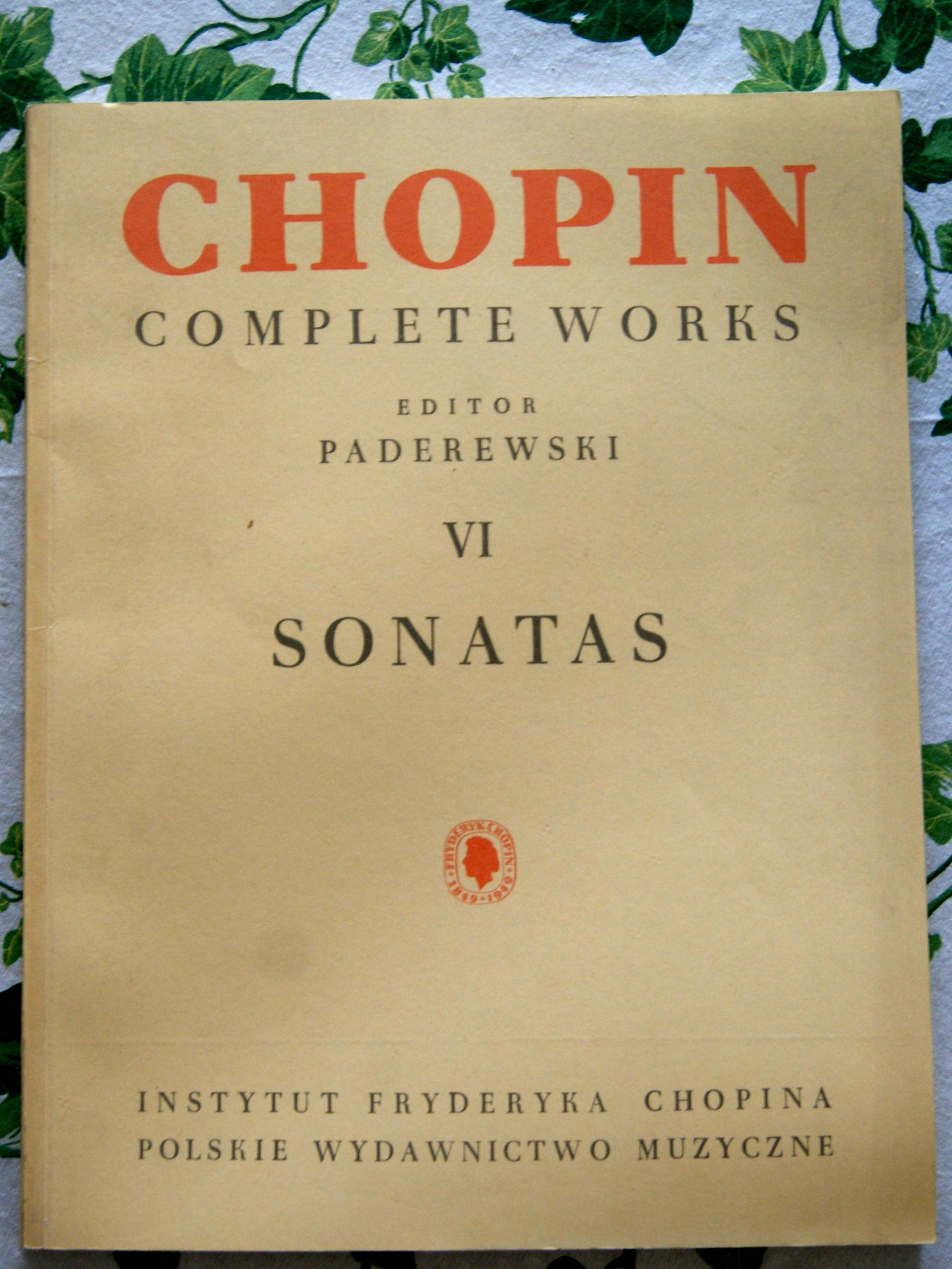 nuty fortepian Chopin Sonaty