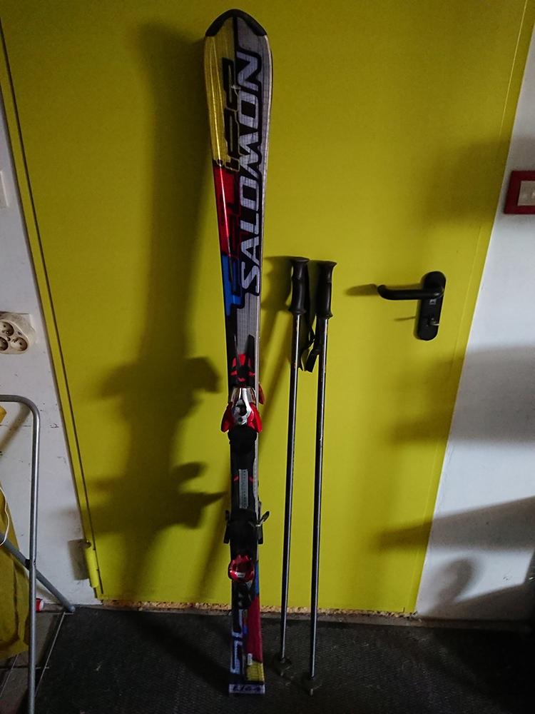 Narty salomon equipe sc 164cm + z12 + kijki + kask