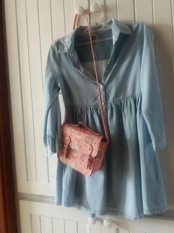 ZARA modna jeansowa sukienka r. 140
