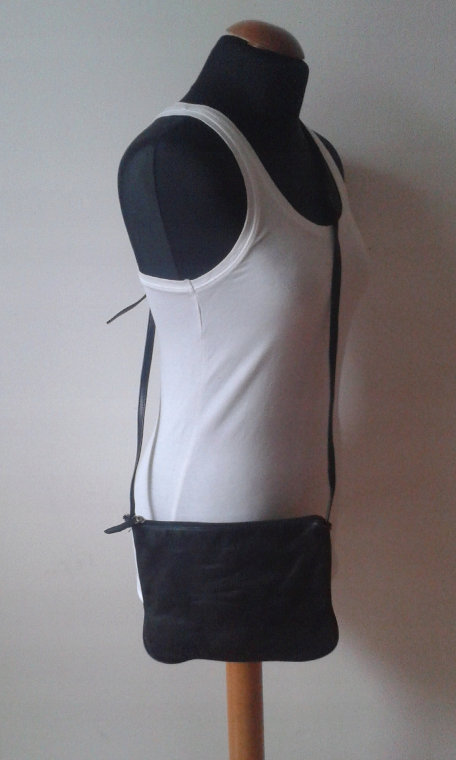 NEXT skórzana torebka na ramię kopertówka