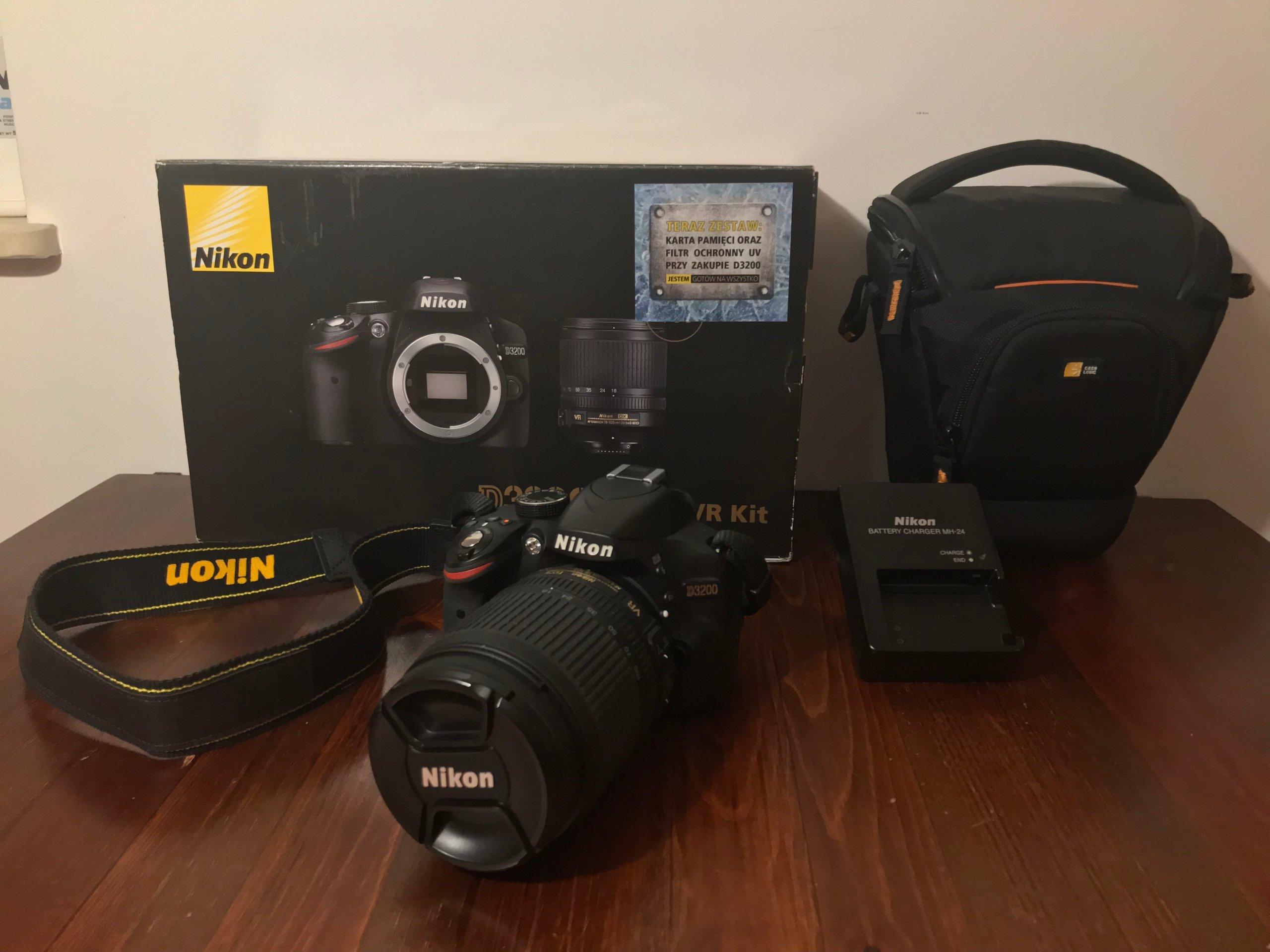 Najnowsze Zestaw Nikon D3200 obiektyw 18-105 VR + akcesoria - 7158747509 MO86