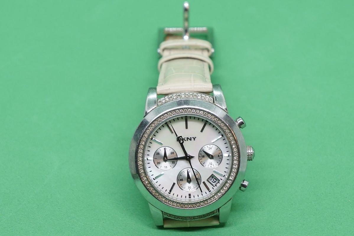 DKNY chronograf zegarek Swarovski oryginał