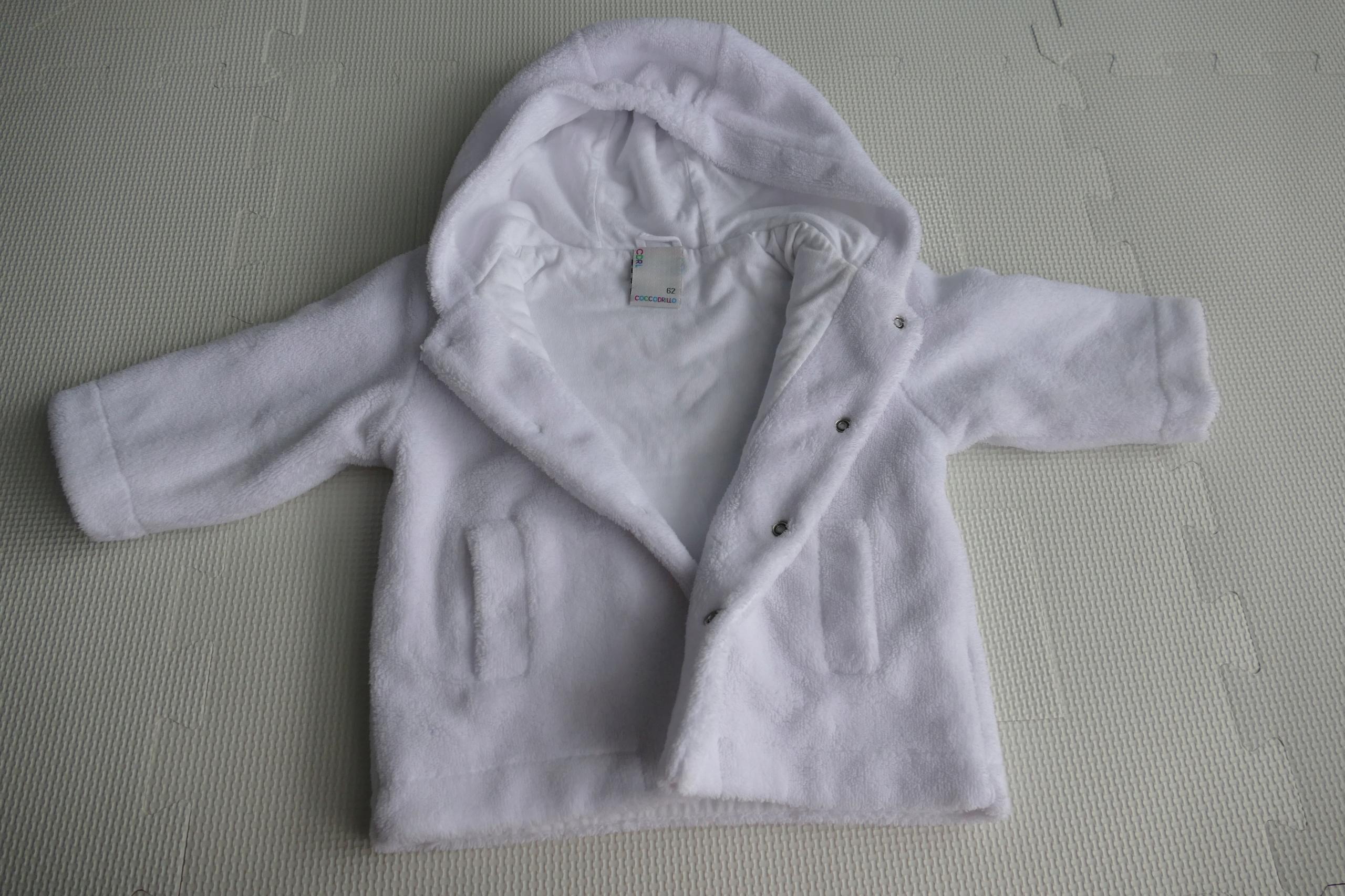 Biały polarek niemowlęcy Cocodrillo - do chrztu.