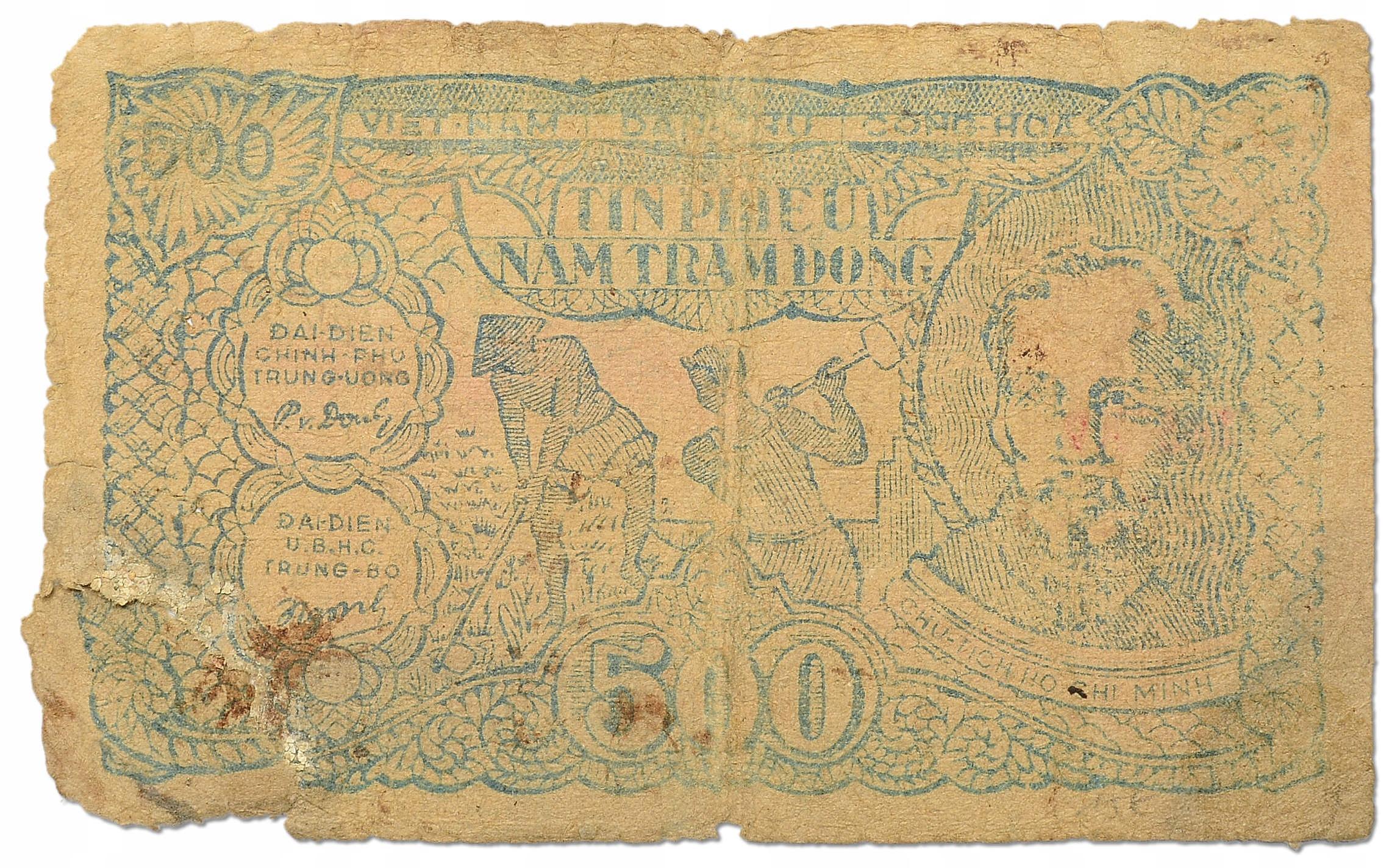 2.Vietnam Płn., 500 Dongów 1950 rzadki, St.4