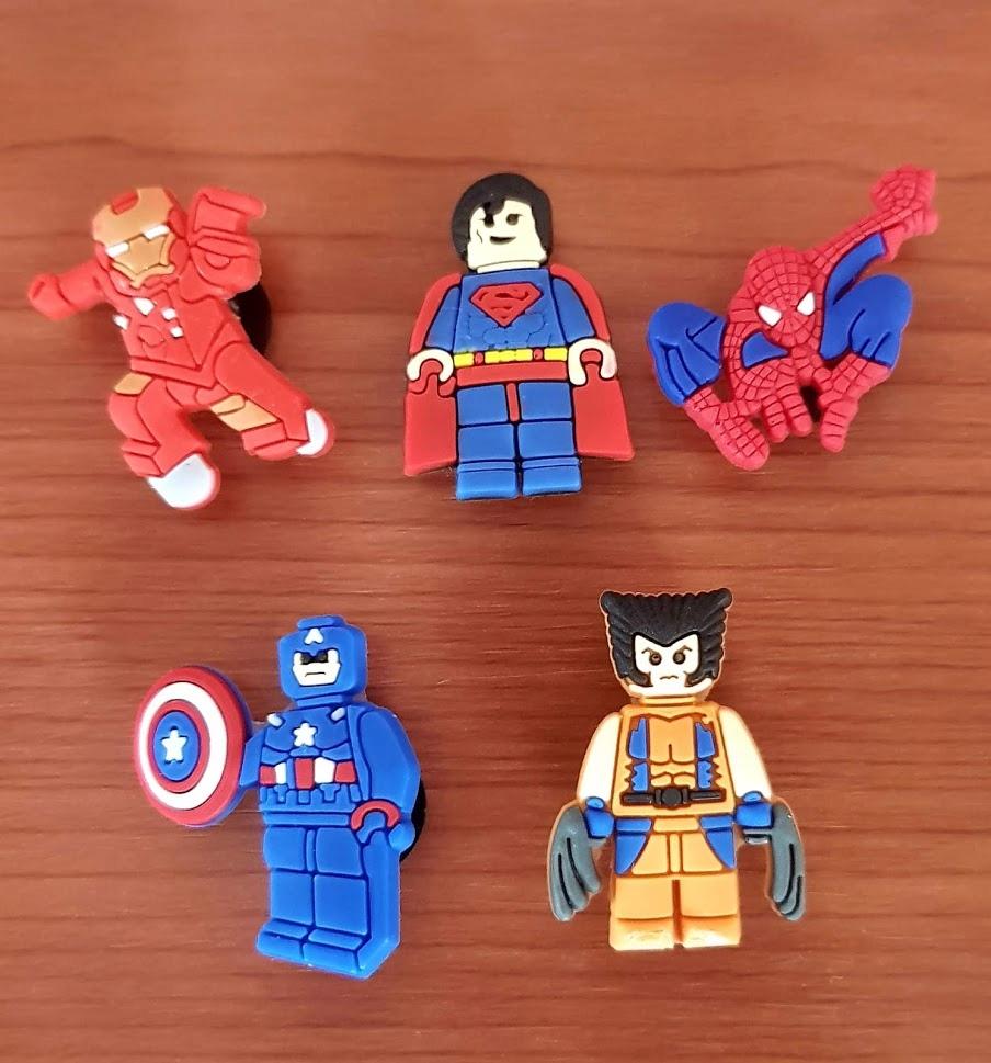 Przypinki do Crocs jibbitz LEGO SUPER HEROES 5 szt