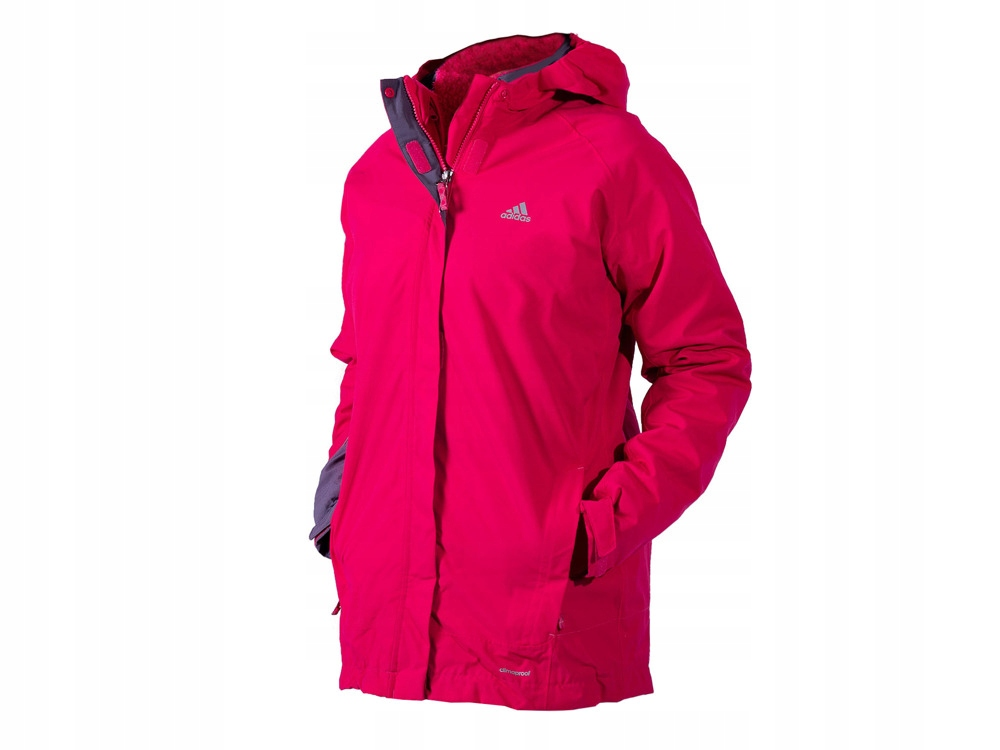 Adidas kurtka zimowa 2w1 ocieplana AA2014 RÓŻOWA