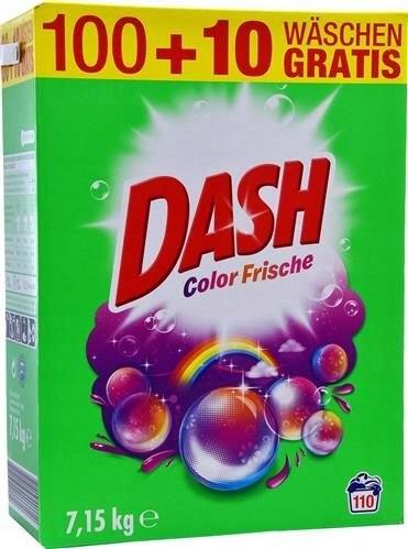 Proszek do tkanin kolorowych dash 100prań 7,15kg