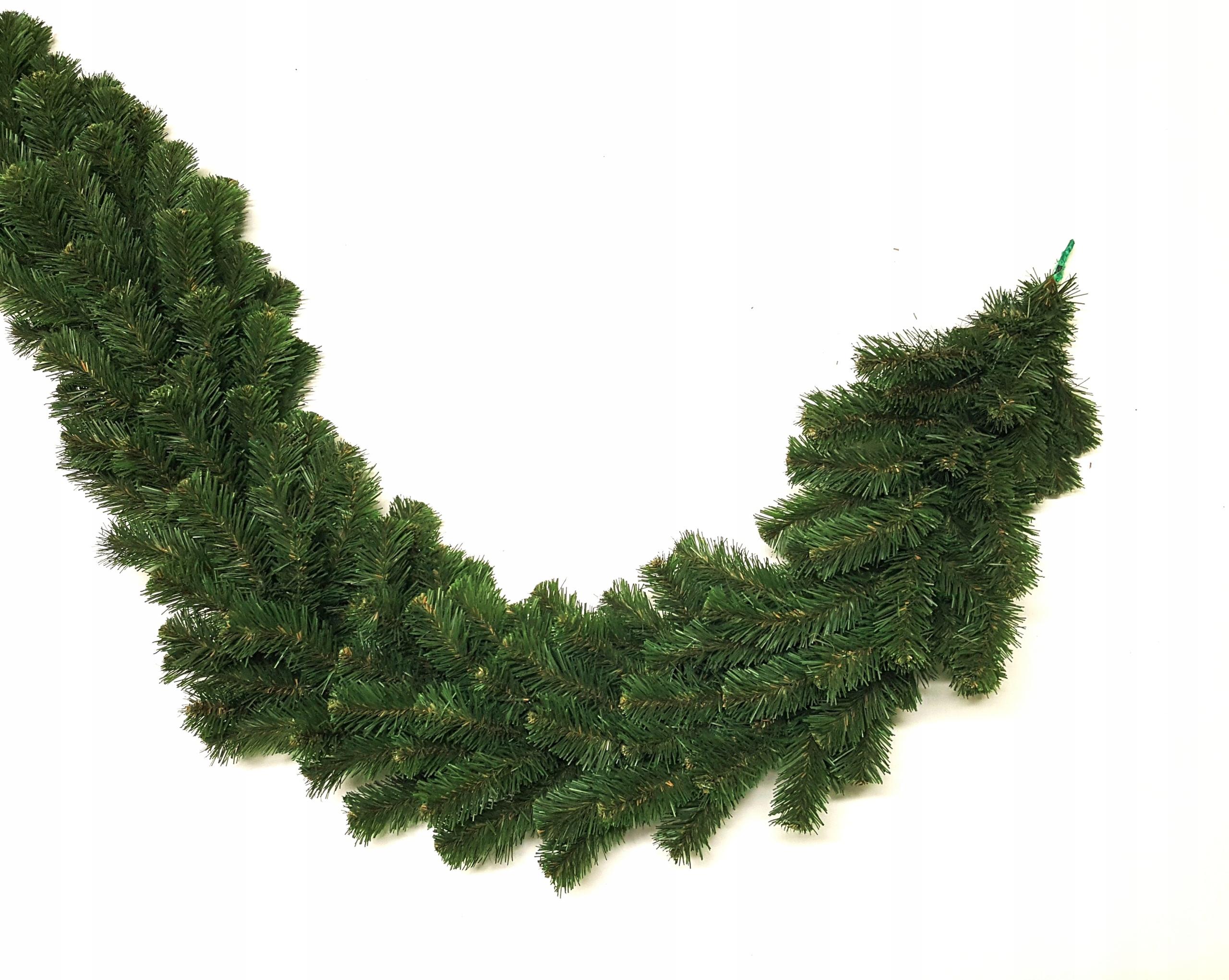Gęsta Ozdoba Świąteczna Girlanda świerk 300cm