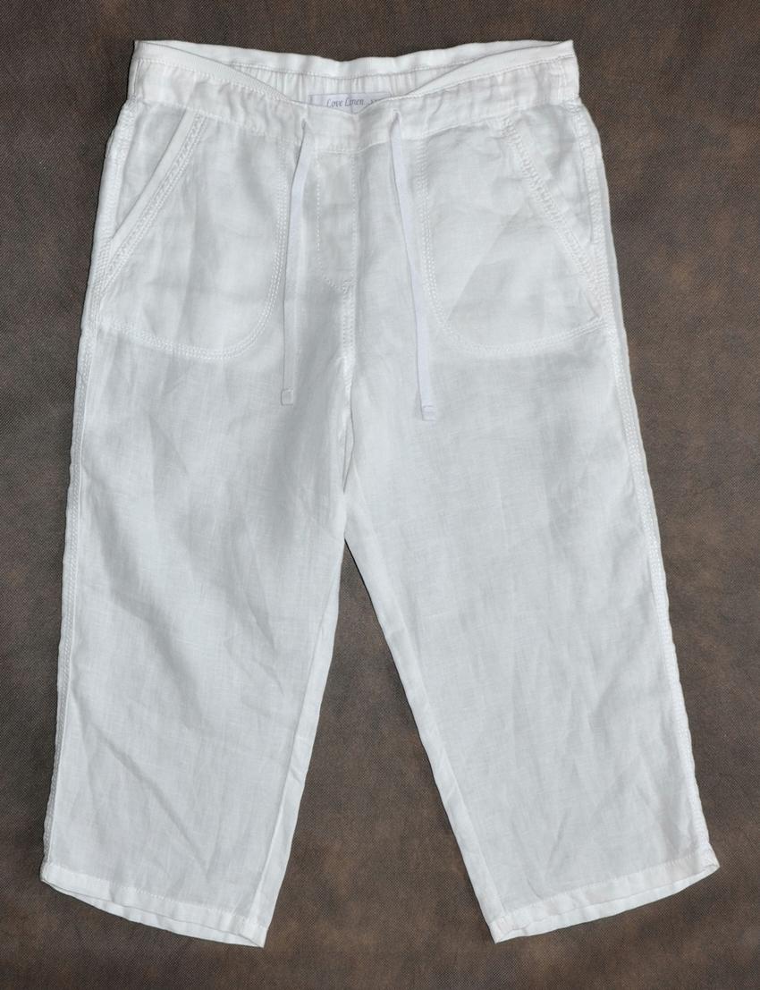 MARKS&SPENCER Lniane białe spodenki rozmiar 38
